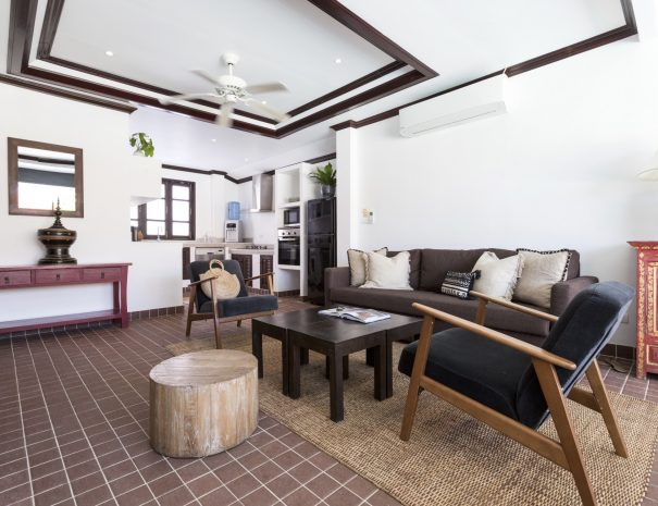 Living area at Villa Khamin, a 2 bedroom pool villa located in Bophut, Koh Samui, Thailand