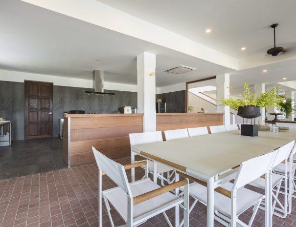Indoor dining at Villa Lemongrass, an 8 bedroom luxury garden villa located in Bophut, Koh Samui, Thailand