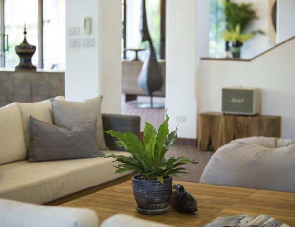 TV lounge area at Villa Lemongrass, an 8 bedroom luxury garden villa located in Bophut, Koh Samui, Thailand