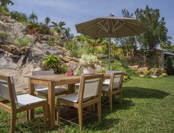 Upper garden area at Villa Lemongrass, an 8 bedroom luxury garden villa located in Bophut, Koh Samui, Thailand