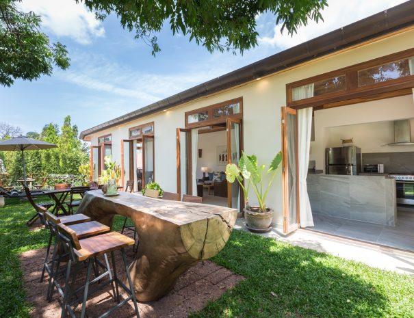 Garden area at Villa Papaya, a 3 bedroom garden villa located in Bophut, Koh Samui