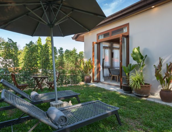 Garden area at Villa Papaya, a 3 bedroom garden villa located in Bophut, Koh Samui